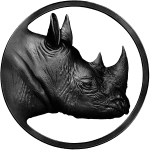 Rhino black membership logo