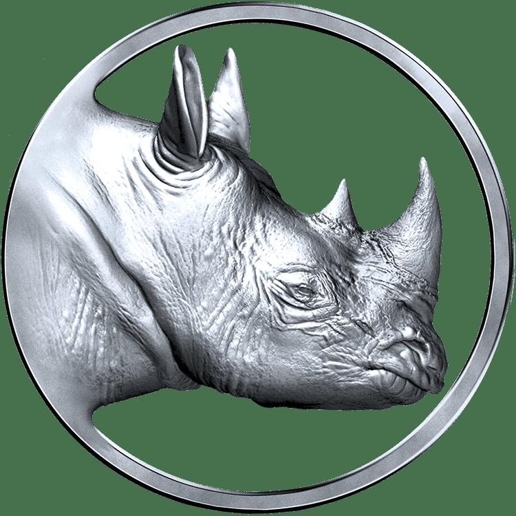 SR Logo Real Rhino Silver