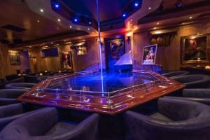 the pole dancing stage in the club