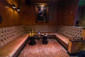 the booth for guests in the club